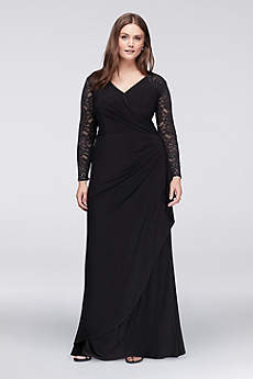 Long A-Line Long Sleeves Cocktail and Party Dress -
