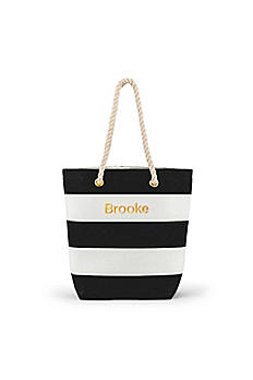 Personalized Bliss Striped Tote 4405