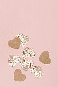 Kraft Paper With Lace Heart Confetti 4411