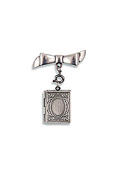 Antique Silver Vintage Book Locket 4447