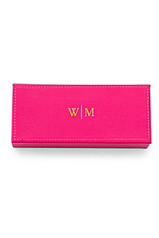 Personalized Monogram Vegan Leather Jewelry Box 4459-Mon