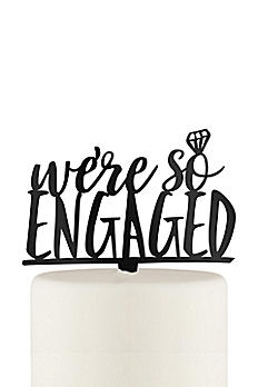 We're So Engaged Acrylic Cake Topper 4581