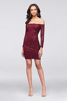 Short Sheath Off the Shoulder Cocktail and Party Dress - My Michelle