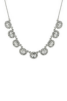 Oval Crystal Collar Necklace 49012
