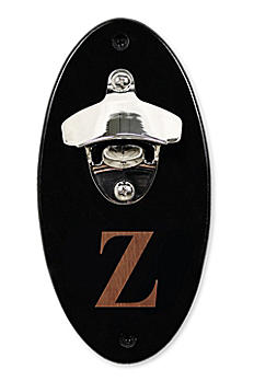 Personalized Black Wall Mounted Bottle Opener 4913