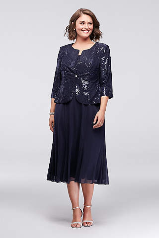 Alex Evenings Tea Length Dress