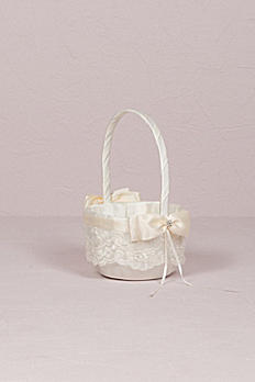French Lace Flower Girl Basket 5005