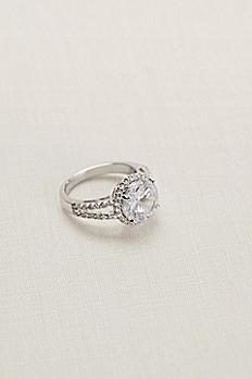Round Crystal Pave Ring 51773BDA