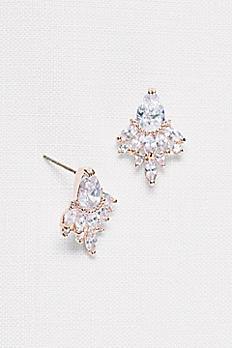 Faceted Crystal Statement Stud Earrings 51959BDA