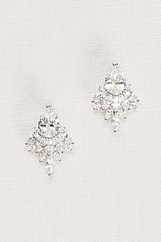 Faceted Crystal Statement Stud Earrings 51959BDA