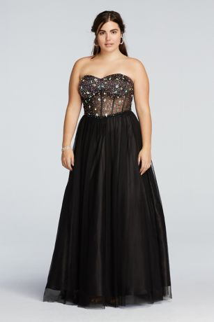 Long Black Corset Dress