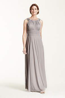Long A-Line Halter Military Ball Dress - David's Bridal