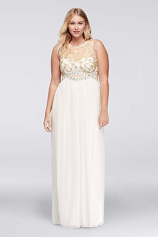 Plus Size Prom Dresses & Gowns for 2017 | David's Bridal