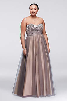 Long Ballgown Strapless Prom Dress - Blondie Nites