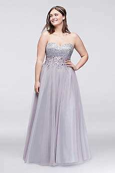 Prom dress large bust