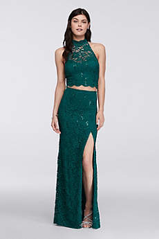 Long Sheath Halter Prom Dress - Bee Darlin