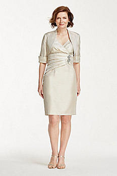 3/4 Sleeve Modern Jacket Dress 56936D