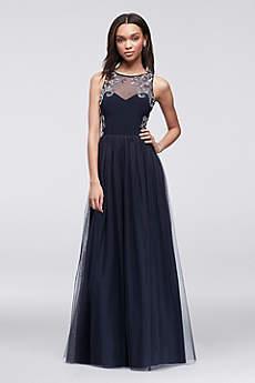 Long Ballgown Tank Prom Dress - Blondie Nites