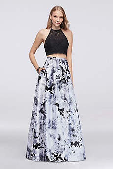 Long Ballgown Halter Prom Dress - Blondie Nites