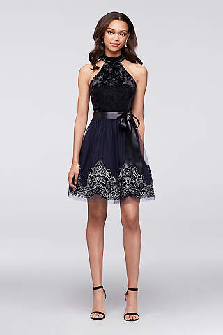 Short Ballgown Halter Cocktail And Party Dress