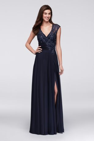 Chiffon prom dresses long evening gowns