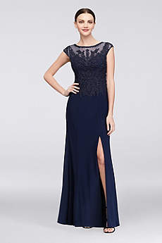 Long Mermaid/ Trumpet Cap Sleeves Formal Dresses Dress - Cachet