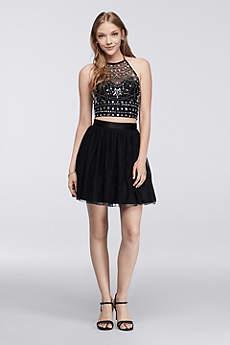 Short Ballgown Halter Prom Dress - Bee Darlin