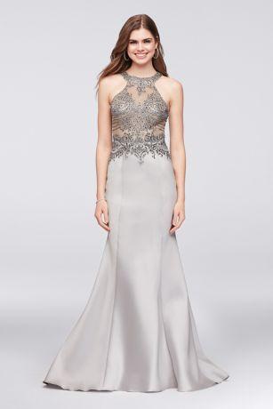 Short Silver Formal Dresses