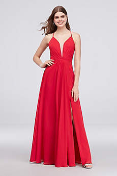 Long A-Line Spaghetti Strap Formal Dresses Dress - Cachet