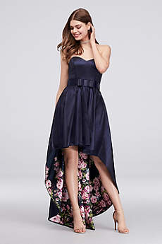 High Low Ballgown Strapless Formal Dresses Dress - City Triangles