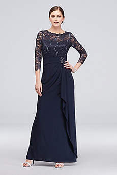 Long Sheath 3/4 Sleeves Formal Dresses Dress - Cachet