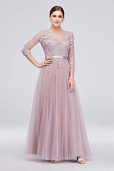 Long Ballgown 3/4 Sleeves Formal Dresses Dress - Cachet