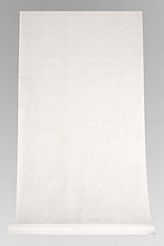 White Victorian Scroll Aisle Runner 60-501