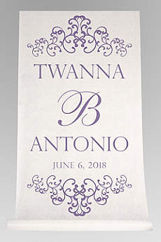 Personalized Watercolor Victorian Aisle Runner