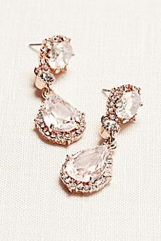 Filigree and Crystal Drop Earrings 60250E