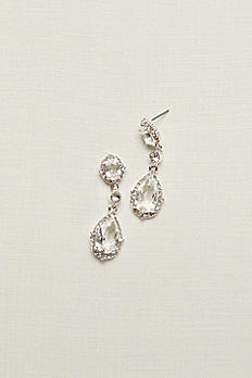 Filigree and Crystal Drop Earrings 60250E