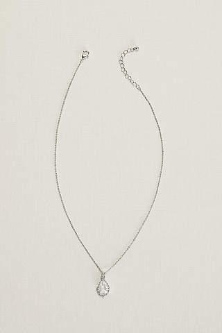Bridal wedding necklaces davids bridal pear stone necklace junglespirit Gallery