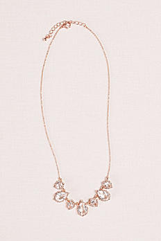 Crystal Pear Pendant and Pave Necklace 60253N