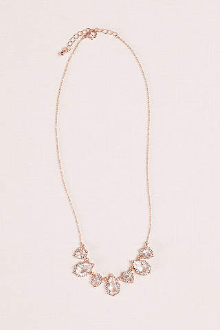 Bridal wedding necklaces davids bridal crystal pear pendant and pave necklace junglespirit Gallery