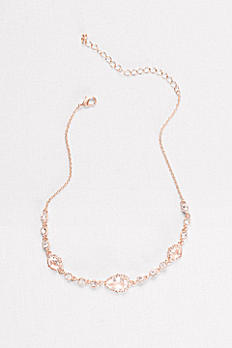 Pear-Cut Crystal Choker 60395NX