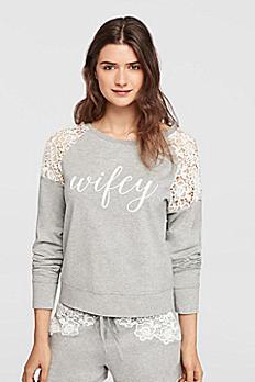 Wifey Lace Sweatshirt 6040KP