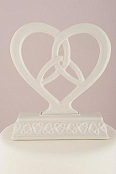 Heart Framed Trinity Knot Cake Topper 6085