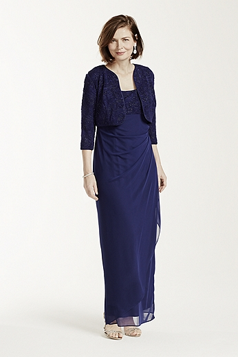 3/4 Sleeve Jaquard Knit Dress 6125189