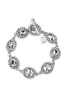 Oval Crystal Link Toggle Bracelet 61294