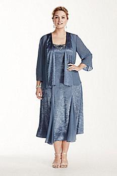 3/4 Sleeve Jacket Dress with Godets 6456126