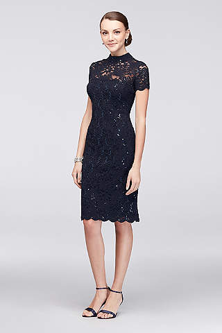 Short Sheath Cap Sleeves Tail And Party Dress Onyx