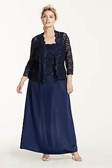Long A-Line 3/4 Sleeves Mother and Special Guest Dress - Alex Evenings