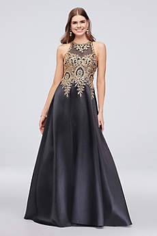 Long Ballgown Halter Formal Dresses Dress - Xscape