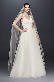Chapel Length Veil with Pencil Edge