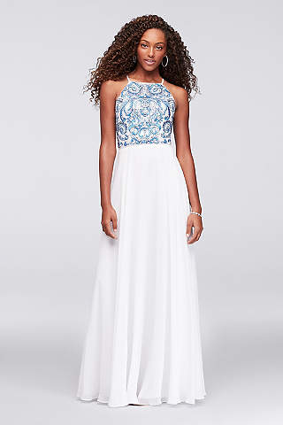 High Neckline Prom Dresses | Davids Bridal
